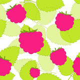 Raspberries pattern Royalty Free Stock Photo
