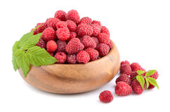 Raspberries in plate Stock Image