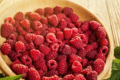 Raspberries in a plate,in wooden bowl,basket/bush branch/growing. Raspberries,raspberries background closeup photo,high resolution product,Delicious first class Stock Photos