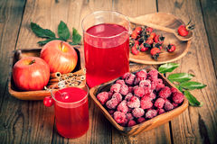 Raspberries and raspberry Cocktail Stock Images