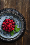 Raspberries on a rusty surface. Fresh Raspberries on a rusty surface Royalty Free Stock Photos