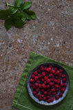 Raspberries on a rusty surface. Raspberries on a old rusty surface Stock Image