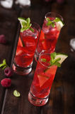 Raspberries shots Stock Image
