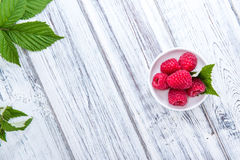 Raspberries. Some fresh harvested raspberries (close-up shot Royalty Free Stock Images