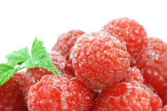 Raspberries and Sugar Stock Photo