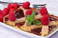 Raspberries  tart Stock Photography