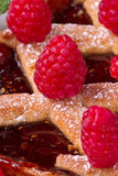Raspberries  tart Stock Photo