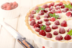 Raspberries tart Royalty Free Stock Image