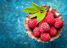 Raspberries, top view Royalty Free Stock Photos