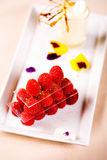 Raspberries and vanilla shake Royalty Free Stock Photography