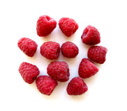 Raspberries on white 1 Stock Photography