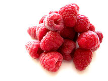 Raspberries on white 3 Stock Photos