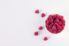 Raspberries on a white background Stock Photography