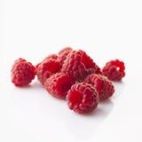 Raspberries on white background Stock Photos