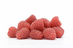 Raspberries on white background Royalty Free Stock Photos