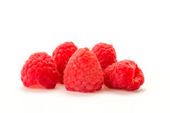 Raspberries on a white background. Some raspberries put on a white background Stock Image