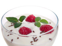 Free Raspberries With Yogurt. Royalty Free Stock Photos - 17399248