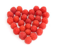 Raspberry. Isolated on a white background Royalty Free Stock Photo