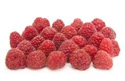 Raspberry. Fresh raspberry close-up isolated on white Stock Photos