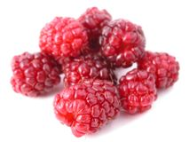 Raspberry. Delicious raspberries on a white back ground Royalty Free Stock Images
