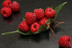 Raspberry. Ship royalty free stock photo
