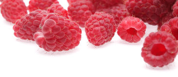 Raspberry. On a white background Royalty Free Stock Photos