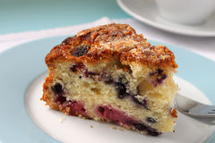 Raspberry Almond &  Blueberry Cake Royalty Free Stock Images