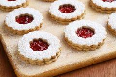 Raspberry Almond Linzer Torte Cookies Royalty Free Stock Photos