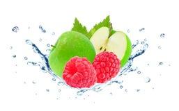 Free Raspberry And Apple Splash Stock Image - 93741251