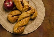 Raspberry apple twist pastries Stock Photo