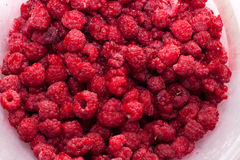 Raspberry background. Image series of fresh vegetables - raspberry background Stock Image