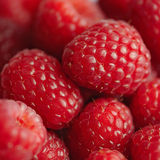 Raspberry background square composition red soft and juicy Stock Photo
