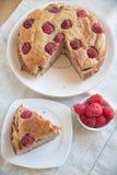 Raspberry Banana Cake. On a table Stock Photo