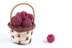 Raspberry basket Stock Photography