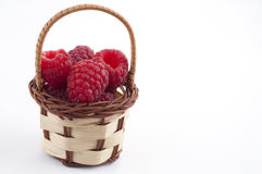 Raspberry basket Royalty Free Stock Photos