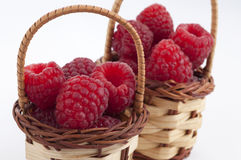 Raspberry baskets Royalty Free Stock Images