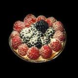 Raspberry and blackberry tartlet royalty free stock photos
