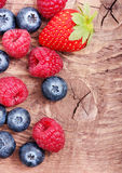 Raspberry and blueberry Stock Photography