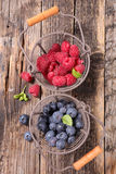 Raspberry and blueberry Royalty Free Stock Photography