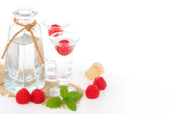 Raspberry brandy Stock Photo