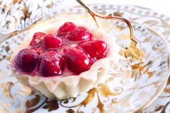 Raspberry cake. Fresh  raspberry cake with jelly and berries Stock Images