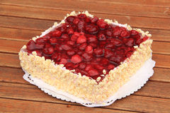Raspberry cake. With fresh raspberry Royalty Free Stock Photography