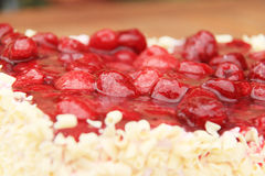 Raspberry cake. With fresh raspberry Royalty Free Stock Image