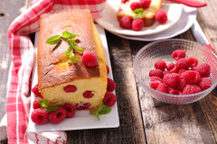 Raspberry cake. Close up on raspberry cake royalty free stock photography
