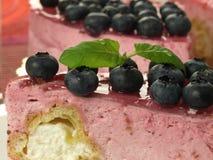 Raspberry cake, closeup Royalty Free Stock Photo