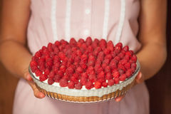 Raspberry Cake for holidays Stock Photography