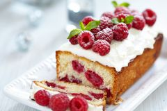 Raspberry Cake for holidays Royalty Free Stock Images