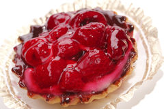 Raspberry cake in jelly Royalty Free Stock Image