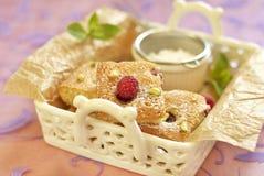 Raspberry cake with pistachio Royalty Free Stock Image