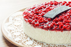 Raspberry cake on plate Stock Image